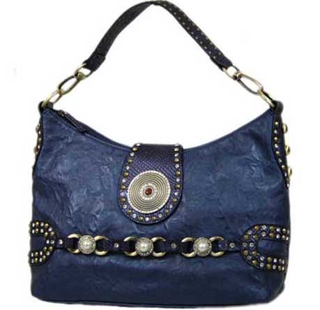 Blue Elegance Denim Handbag