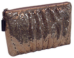 Whiting & Davis Shirred Cosmetic Case